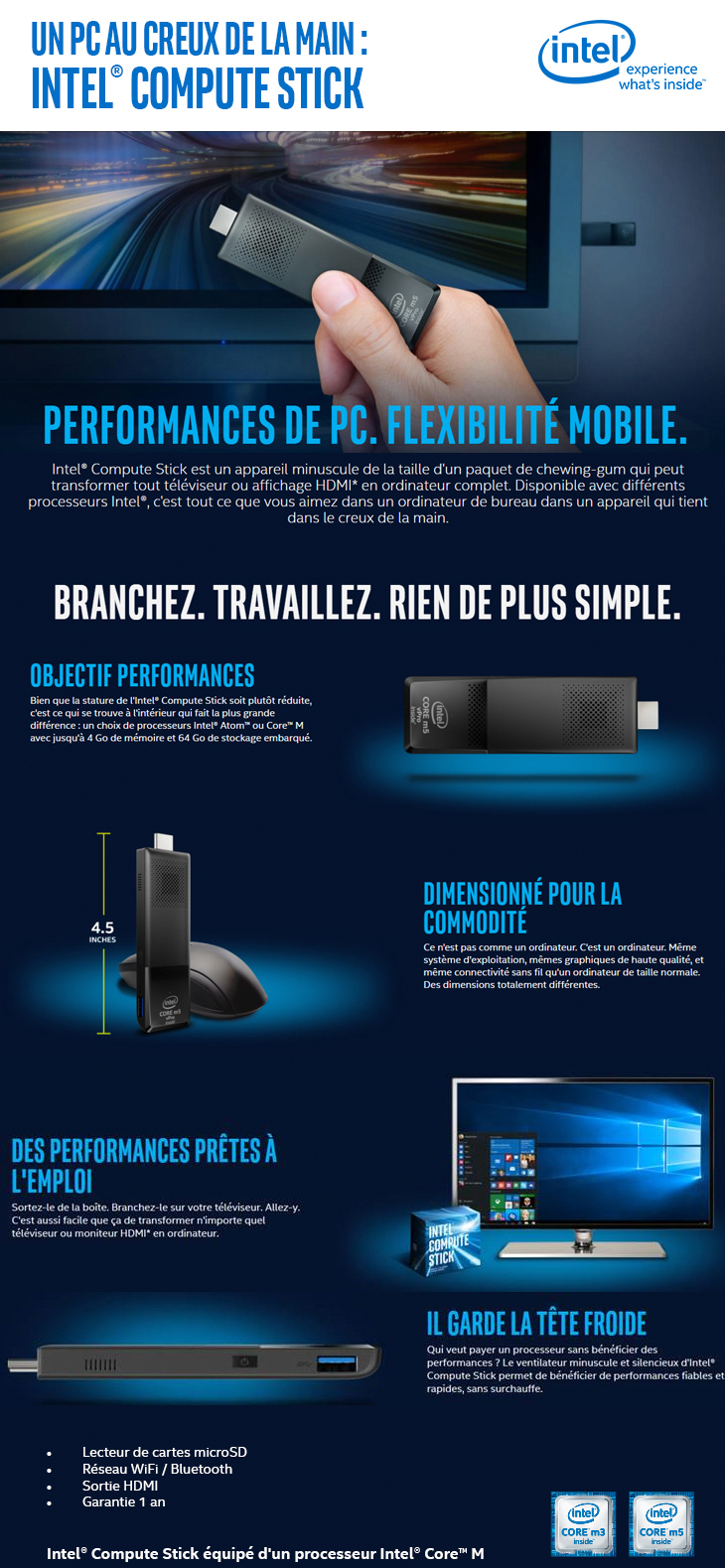 Pc clé Intel
