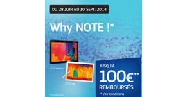 OFFRE SAMSUNG : 100€ REMBOURSÉS