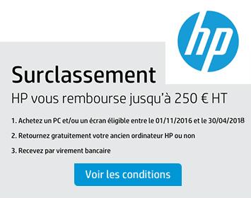HP offre de surclassement 250 euros rembourses
