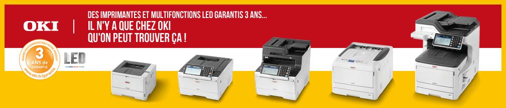 OKI : Imprimante Multifonction garantie 3 ans